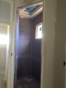 Large master bathroom shower.